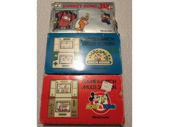 Game and watch / mickey and donald / donkey kong jr / green house