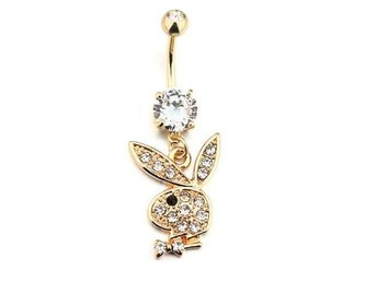 JULKLAPP PLAYBOY BOY GULD DIAMANT DIAMOND STRASS PIERCING NAVEL SEXY NY ROCK 1:-