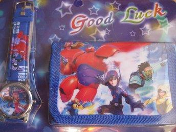 Disney Big Hero 6 - Set med Klocka och Plånbok Svart blå KP3 - Uddevalla - Disney Big Hero 6 - Set med Klocka och Plånbok Svart blå KP3 - Uddevalla