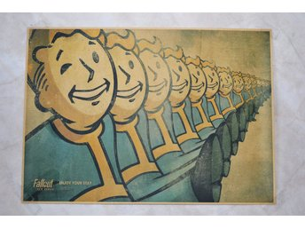 Vault Boy i Rad, Enyoy your Stay Fallout Poster 30*42cm Ny