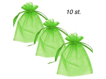 Organzapåsar  10 st lime giftbags