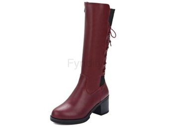 Dam Boots Dating Daily Winter Warm Botas Mujer Red 34