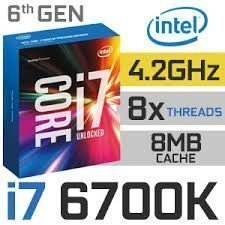 Intel Core i7 6700K 4.2GHz med turbo.