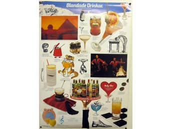 Plansch/Affisch Blandade drinkar Holland house cocktailmix