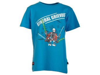 LEGO WEAR T-SHIRT, STAR WARS,'GENERAL GRIEVOUS', OCEANBLÅ (128)