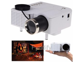 Mini Projektor Home Cinema Theater Vit