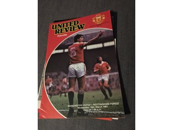 FOTBOLL Program Manchester United FC v Nottingham Forest 18/3 1981