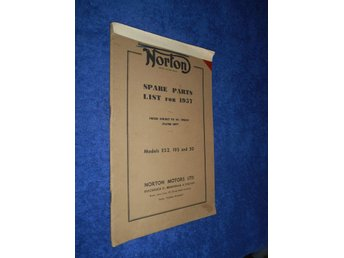 Norton Spare Parts List for 1957 Models ES2 19S and 50