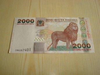2000 Shilling-sedel från Tanzania 2003 ocirkulerad och ovikt - Jämjö, Blekinge - 2000 Shilling-sedel från Tanzania 2003 ocirkulerad och ovikt - Jämjö, Blekinge