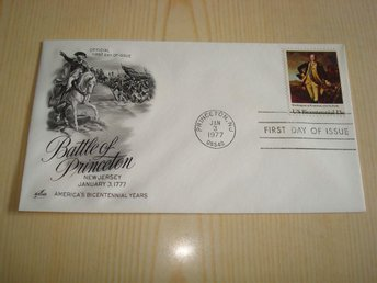 Battle of Princeton George Washington 1977 USA förstadagsbrev