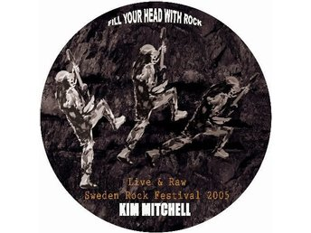 "KIM MITCHELL 'Live & Raw' Swedish 10"" EP picture-disc"