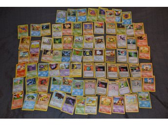 95st Pokemon Kort Äldre (5st Foils, 60st vanliga pokemons, trainers mm (Lot #1)