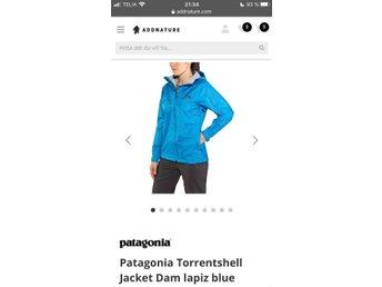 Patagonia Torrentshell regn jacka dam XS blå fint skick äkta