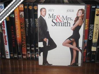 MR AND MRS SMITH - Brad Pitt, Angelina Jolie *UTGÅNGEN DVD* - Svensk text - åmål - MR AND MRS SMITH - Brad Pitt, Angelina Jolie *UTGÅNGEN DVD* - Svensk text - åmål