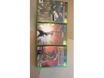 Xbox spel Baldurs gate, kingdom under fire, jade empire