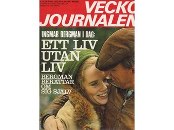 Vecko Journalen 1970-18 Ingmar Bergman..Apollo 13..H-A Holst - Järpås - Vecko Journalen 1970-18 Ingmar Bergman..Apollo 13..H-A Holst - Järpås