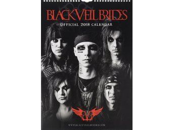 BLACK VEIL BRIDES - Officiell 2018 Kalender - 42cm x 30cm - Ny