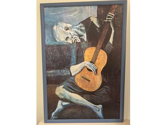 The Old Guitarist Picasso (Framed Laminated Print)