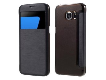 Samsung Galaxy S7 Window View svart flipcover S flip wallet flipwallet s-view