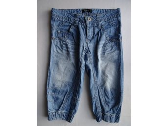 Knickers korta jeans shorts - strl 134 - Blåsmark - Knickers korta jeans shorts - strl 134 - Blåsmark