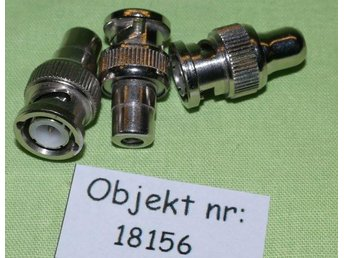 BNC-phono adapter 3 st (18156) - Bandhagen - BNC-phono adapter 3 st (18156) - Bandhagen