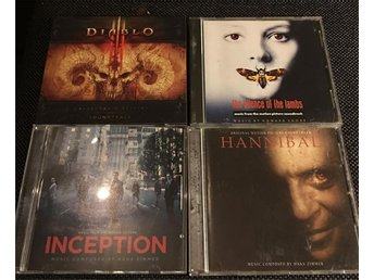 Film/Spel CD Paket - Silence of the lambs, Hannibal, Inception, Diablo 3