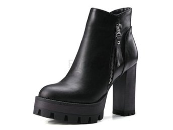 Dam Boots Heel Ankle Boot Women Motorcycle Boot Black 34