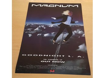 MAGNUM GOODNIGHT L.A. 1990 POSTER
