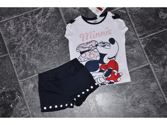 nytt 3 år=98 set tröja o shorts Minnie Mouse Disney FRI FRAKT