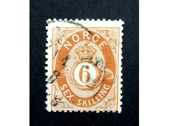 Michel Nr 20 Norway 6 Skilling 1872