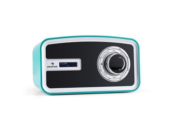 auna Sheffield blue Retro Digitalradio DAB+ FM batteridrift turkos