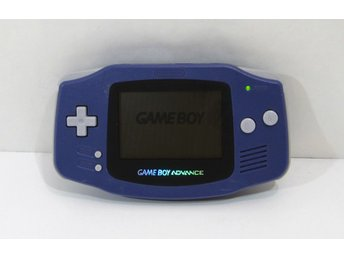 GBA konsol, vit med glasskärm, Game Boy Advance