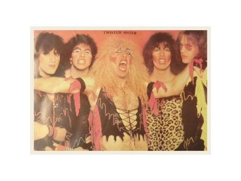 Twisted Sister -1982-1983 group picture Original 80s poster
