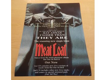 MEAT LOAF LIKE EVERYTHING I DO I DO IT FOR YOU 1994 POSTER