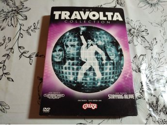 John Travolta Collection DVD box med Grease Svensk Utgåva