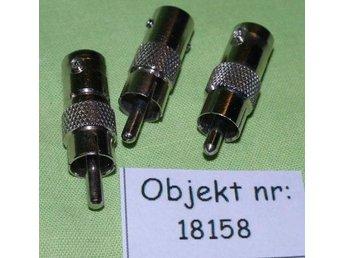 BNC-phono adapter 3 st (18158) - Bandhagen - BNC-phono adapter 3 st (18158) - Bandhagen