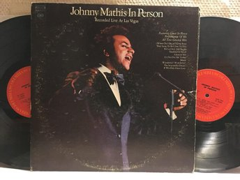 JOHNNY MATHIS - IN PERSON - LIVE IN LAS VEGAS - 2-LP