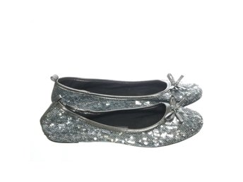 I Love Shoes, Ballerinaskor, Strl: 37, Silverfärgad