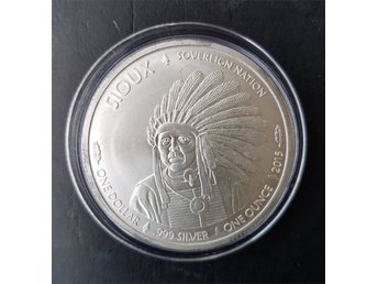 SIOUX BUFFALO 1 oz Ag .999