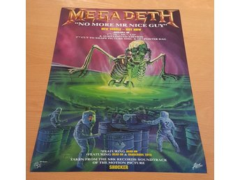 MEGADETH NO MORE MR NICE GUY 1990 POSTER