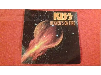 KISS  HEAVEN´S ON FIRE Vinylborsen-skivbutik
