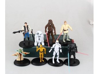 8st Star Wars Figurer Yoda Chewbacca Han Solo Luke Skywalker m.m Fri Frakt