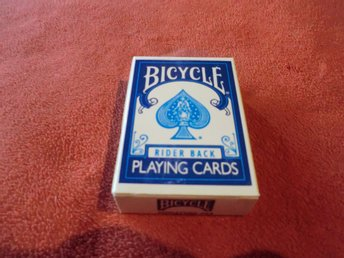 Helt Ny Bicycle Rider Back Blue Mini Kortlek