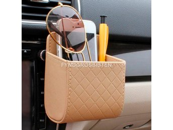 Universal Car Mobile Phone Bag Bil Väska Beige Fri Frakt Hel