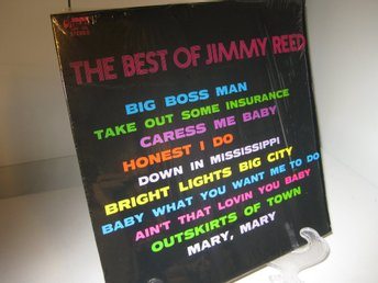 LP skiva med THE BEST OF JIMMY REED. UP FRONT up 125 Stereo. Ca.1970