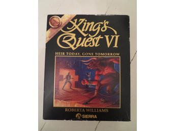 "Kings Quest VI på 3.5"" floppy. I kartong med manual."