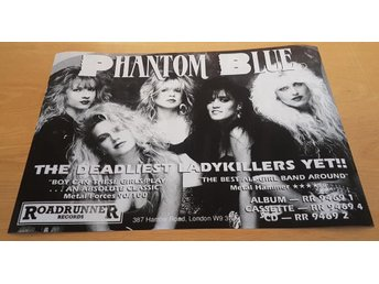 PHANTOM BLUE THE DEADLIEST LADYKILLERS YET! 1989 POSTER