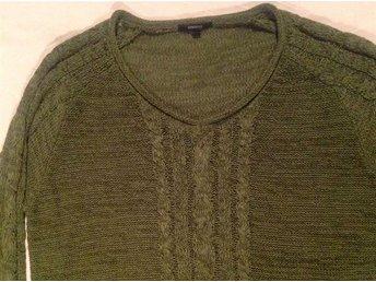 Olivgrön mönster stickad tröja Lindex generous XL 44 46 - Trensum - Olivgrön mönster stickad tröja Lindex generous XL 44 46 - Trensum