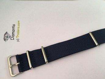 22 mm -- NYTT -- Blå -- N.A.T.O -- klockarmband NATOband band mörkblå blått - Boliden - 22 mm -- NYTT -- Blå -- N.A.T.O -- klockarmband NATOband band mörkblå blått - Boliden
