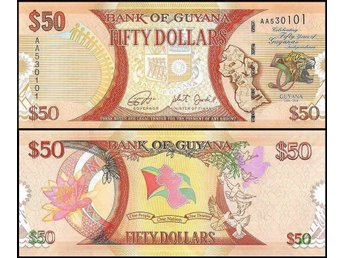 Guyana 50 Dollars 2016 P-NEW UNC